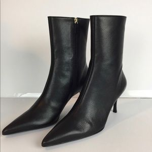 Gucci Black Ranch Kid Leather Ankle Boot 9.5 NWB